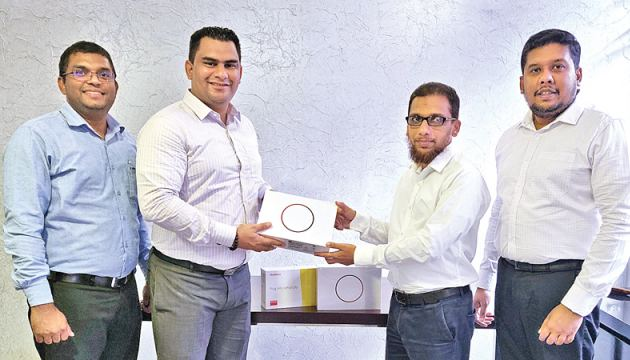 From Left to Right: Eshan Fernando, Business Manager-Gestetner of Ceylon, Fawaz Fuji, Product Manager-Gestetner of Ceylon, Irshard Zahir, Head of IT-ITX360, Harshana Silva, Manager – Corporate Technology Solutions-ITX-360