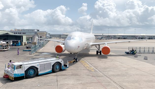 FitsAir aircraft being towed