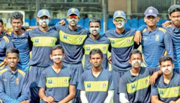 St. Anthonys College Wattala Cricket Pool 2021 posed for a photograph just after an under 19 tournament match. Romesh Suranga is standing 7th from left in the back row. (Dilwin Mendis, Moratuwa Sports Special Correspondent)