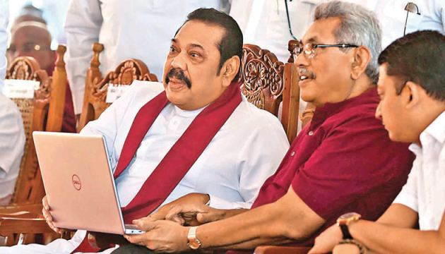 The National programme to develop 100,000 kilometres of rural roads was launched recently with President Gotabaya Rajapaksa and Prime Minister Mahinda Rajapaksa as chief guests. The project was launched under the policy manifesto Rata Hadana Saubhagyaye Dekma. The development work of a 52 km-stretch of Peradeniya - Rikillagaskada road via Galaha and Delthota also commenced. Picture by Nissanka de Silva