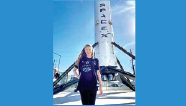 St. Jude Children's Research Hospital's physician assistant and cancer survivor Hayley Arceneaux, posing for a photo at a SpaceX facility in Hawthorne, California.