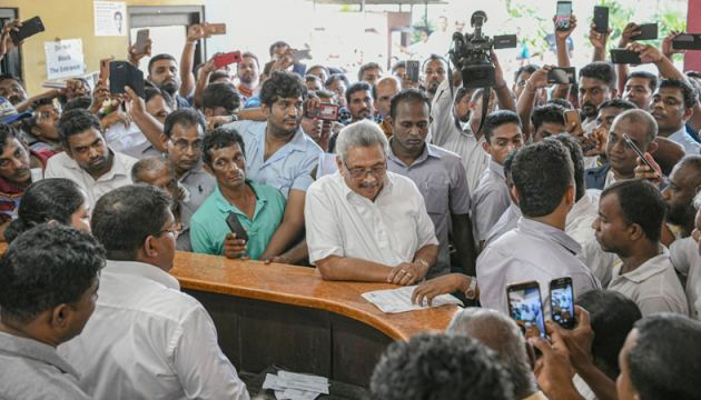 President Gotabaya Rajapaksa inspects work at Government offices