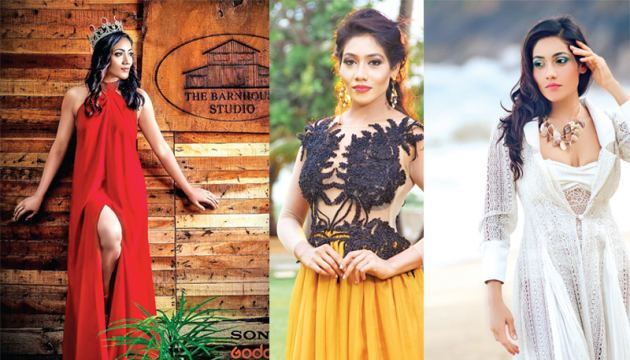 Crowned as a representative for Sri Lanka for international beauty pageants