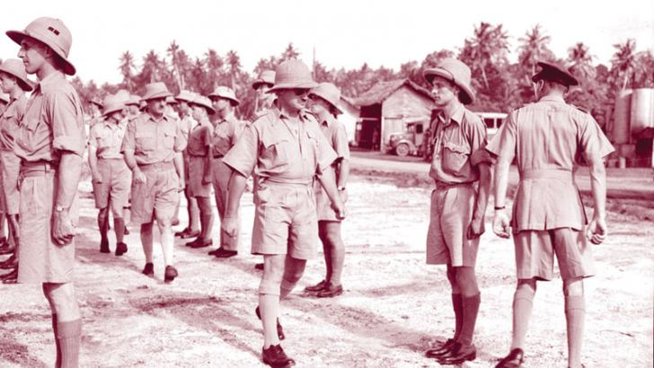 Members of a Canadian Flying Boat Squadron in Ceylon.