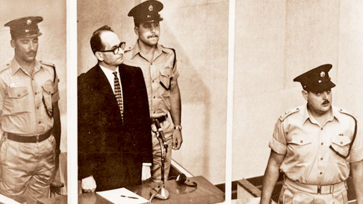 After a trial lasting eight months, during which 99 Holocaust survivors gave evidence, Eichmann (pictured above behind a bullet-proof screen) was found guilty of crimes against humanity, war crimes and membership of hostile organisations. He was sentenced to death and hanged on May 31, 1962. Courtesy bt.com