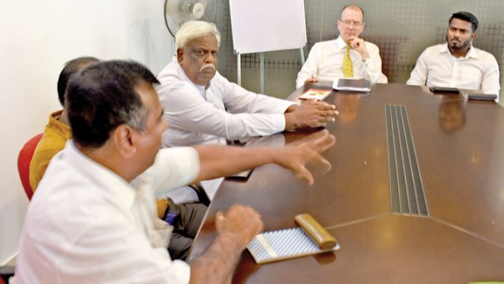 Canadian High Commissioner David McKinnon meets community leaders in the Ampara district on Thursday.