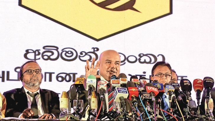 Abhiman Lanka Alliance's Dr. Rohan Pallewatta at yesterday's press briefing. Picture by Sulochana Gamage