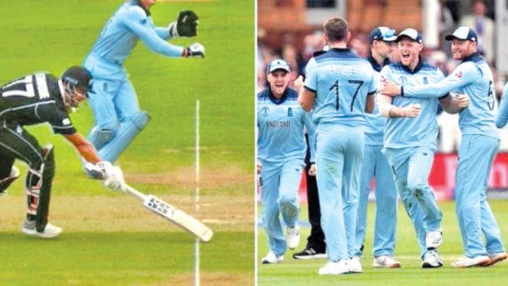 England win the 2019 World Cup final against New Zealand at Lord's on the boundary count.