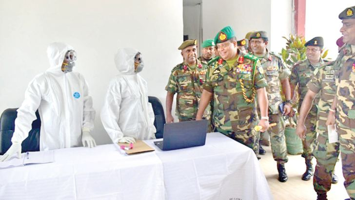 Chief of Defence Staff and Army Commander  Lt. Gen. Shavendra Silva visited two centres in Punani and Kandakadu  where  foreigners and Sri Lankans returning from South Korea, Iran  and Italy  will be quarantined from today for Covid – 19. Security Forces – East Commander Major General Rasika Fernando was also present. Picture courtesy Army Media Unit