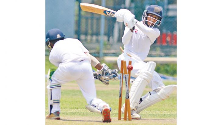 Action from an U-19 cricket match Pic by Hirantha Gunathilaka