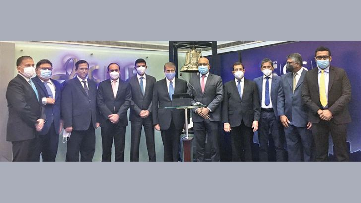 Representatives from the CSE and WindForce. Picture by Dinesh Perera.