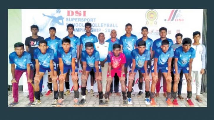 Vijayaba National School Hungama were the under 17 Runners Up of All Island DSI Tournament. Buddhipa Manurandil is squatting fifth from left in the front row. (Picture by Dilwin Mendis, Moratuwa Sports Special Correspondent)
