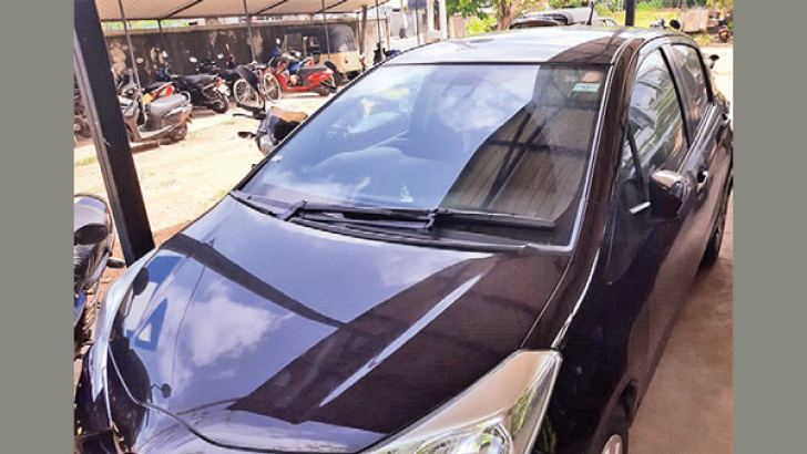 The car at the Galle Police station.