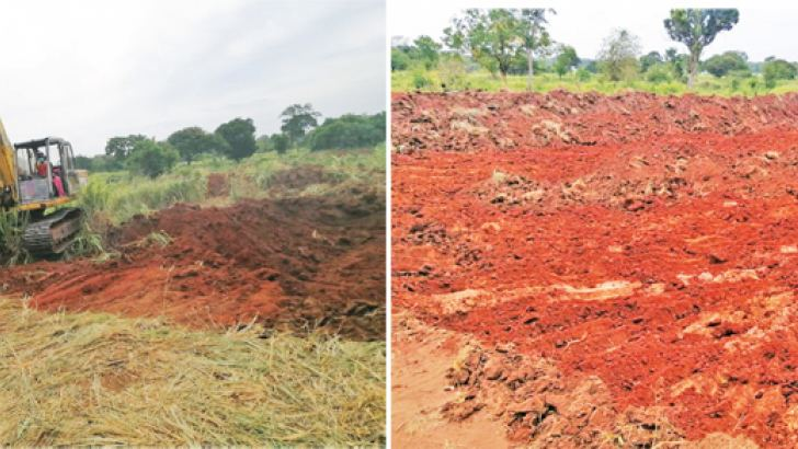 Unauthorised gravel excavation in the proposed Navodagama forest reservation