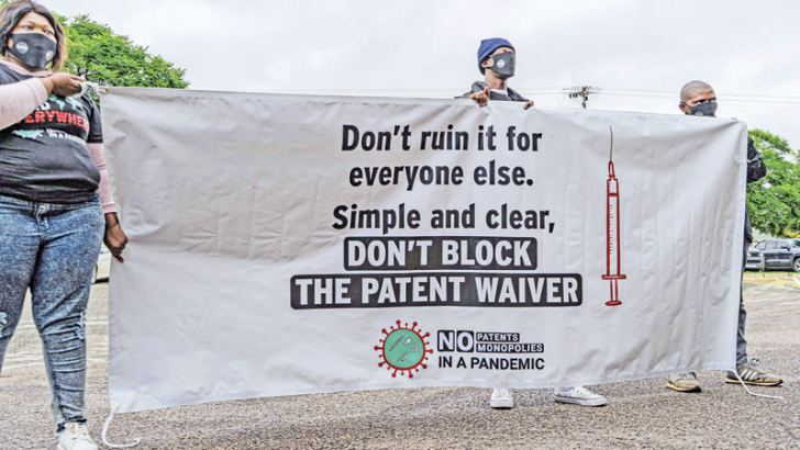 A demonstration in support of the TRIPS waiver.