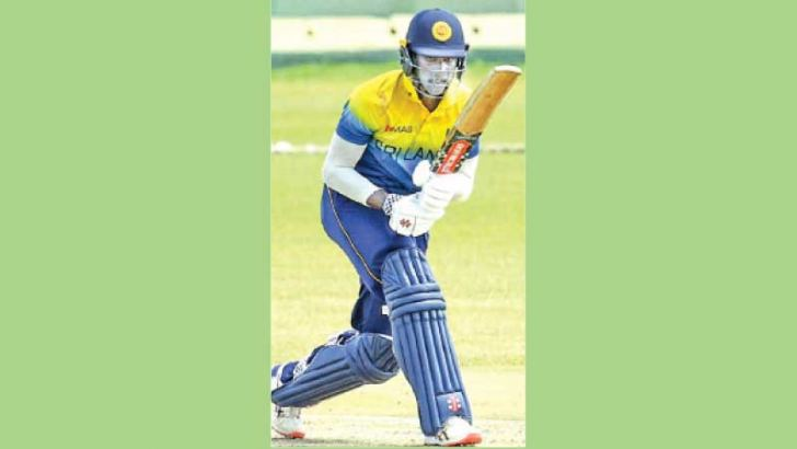 Chamindu Wickramasinghe in action. Picture courtesy SLC